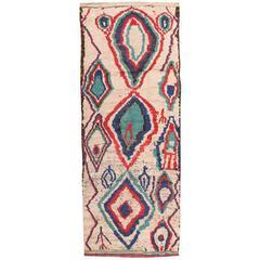 Vintage Moroccan Rug, Azilal weaving, 1990's.
