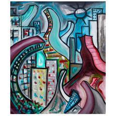 """Painting """"São Paulo"""" by Enzio Wenk, 2005"""