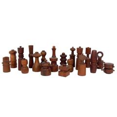 Collection of 20 Sculptural Danish Modern Pepper Mills