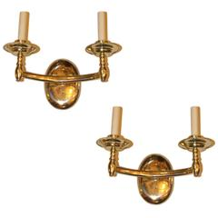 Set of 6 Italian Art Deco Sconces