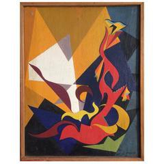 Rhythmic Elements N°2 by Jean-Marie Euzet, circa 1948