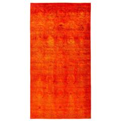 Overdyed Area Rug in Red