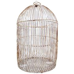19th Century Large Wire Frame Decorative Bird Cage