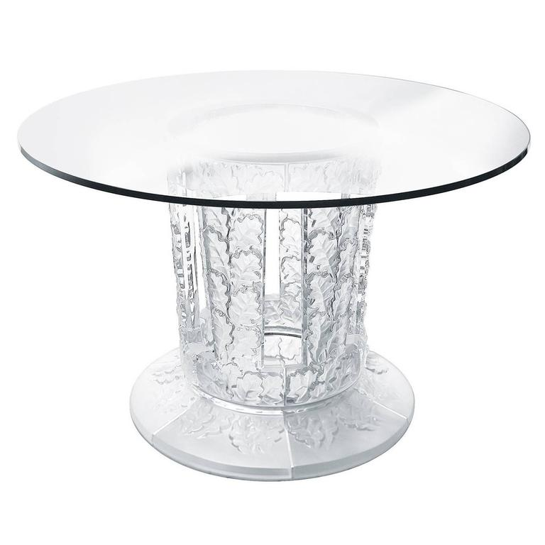 Lalique Chene Crystal Dining Or Entryway Table 1