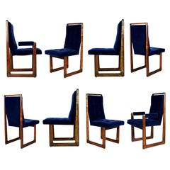 Vladimir Kagan Signed Cubist Dining Chairs, Set of Eight, circa 1960