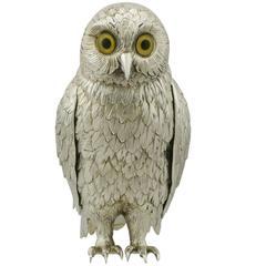 Sterling Silver 'Owl' Ornament by Israel Freeman & Son