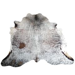 Salt and Pepper Large Modern Cowhide / Rug from Brazil