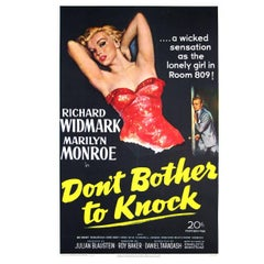 """""""Don't Bother To Knock"""" Film Poster, 1952"""