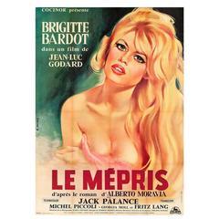 """Le Mepris"" Film Poster, 1963"