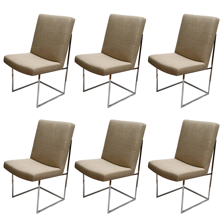 Set of Six Milo Baughman Dining Room Chairs
