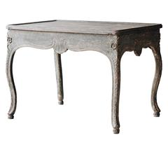 18th Century Norwegian Rococo Tray Table