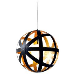 Meridian 42 Black Stained Walnut and Gold Leaf Pendant