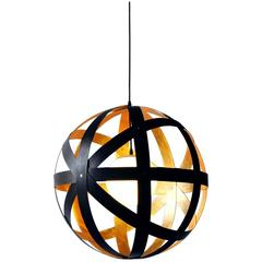 Meridian 36 Black Stained Walnut and Gold Leaf Pendant