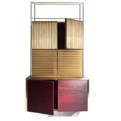 Modern Abundance Sideboard in Hand Varnished Walnut, Chrome and Polished Brass