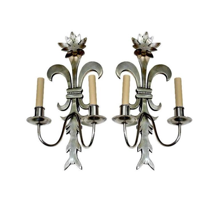 Set of Silver Plated Sconces