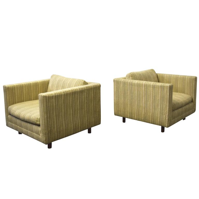 Harvey Probber Cube Lounge Chairs For Sale