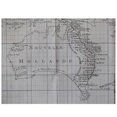Rare Robert Bénard Map of the South Pacific, Showing Australia and New Zealand