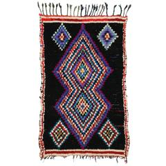 Modern Vintage Berber Moroccan Rug with Boho Chic Tribal Style