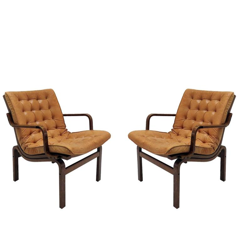 Danish Bentwood Leather Chairs For Sale