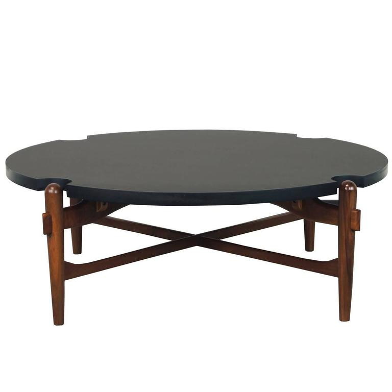 Cut-Out Coffee Table Attributed to Greta Grossman