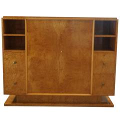 20th Century French Trulia Burl Wood Cabinet
