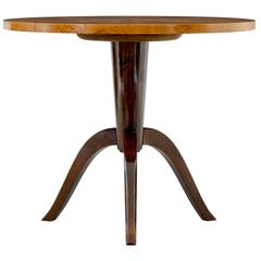 1950s Later Deco Swedish Birch Occasional Table