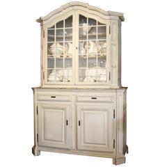 French Buffet with Glass Front Top