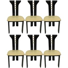 Set of Six Dining Chairs by Pierre Cardin