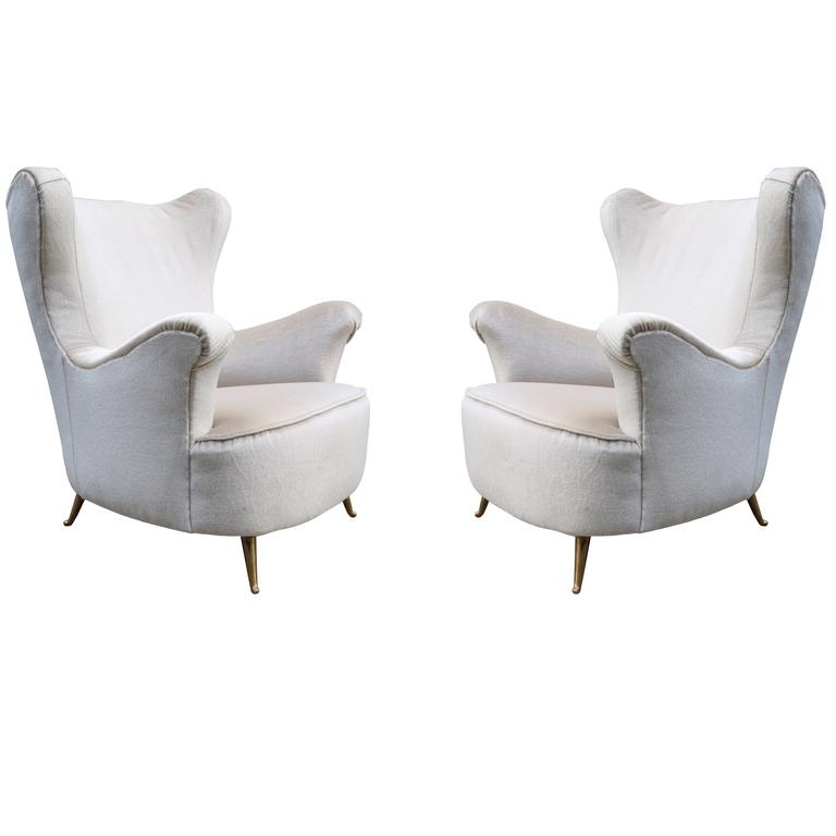 Pair of Modernist Italian Club Chairs