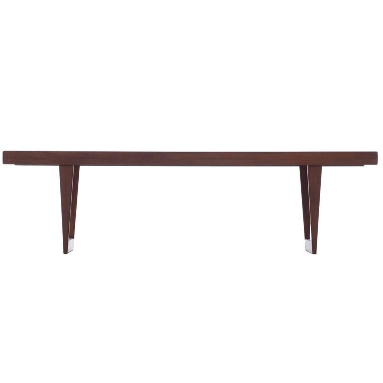 Danish Modern Sled Base Coffee Table At 1stdibs