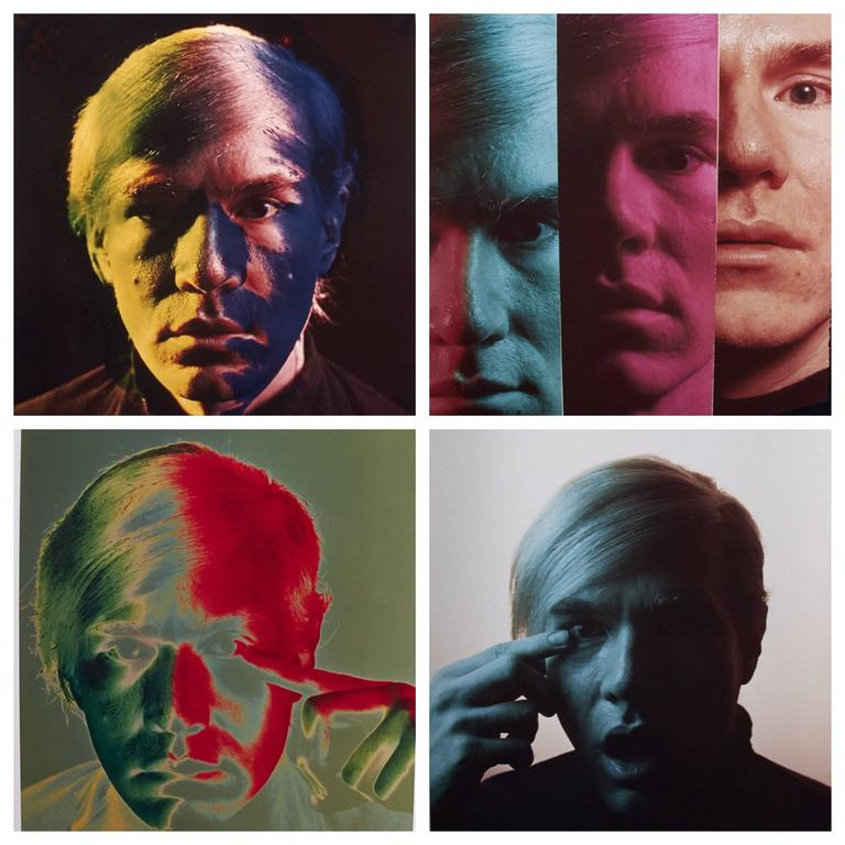 Andy Warhol Portraits by Philippe Halsman, Set of 4, 1968 1