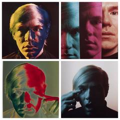 Andy Warhol Portraits by Philippe Halsman, Set of 4, 1968