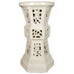Chinese Ceramic Garden Pedestal