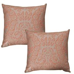 Pair of Antique Fortuny Pillow by B. Viz Designs
