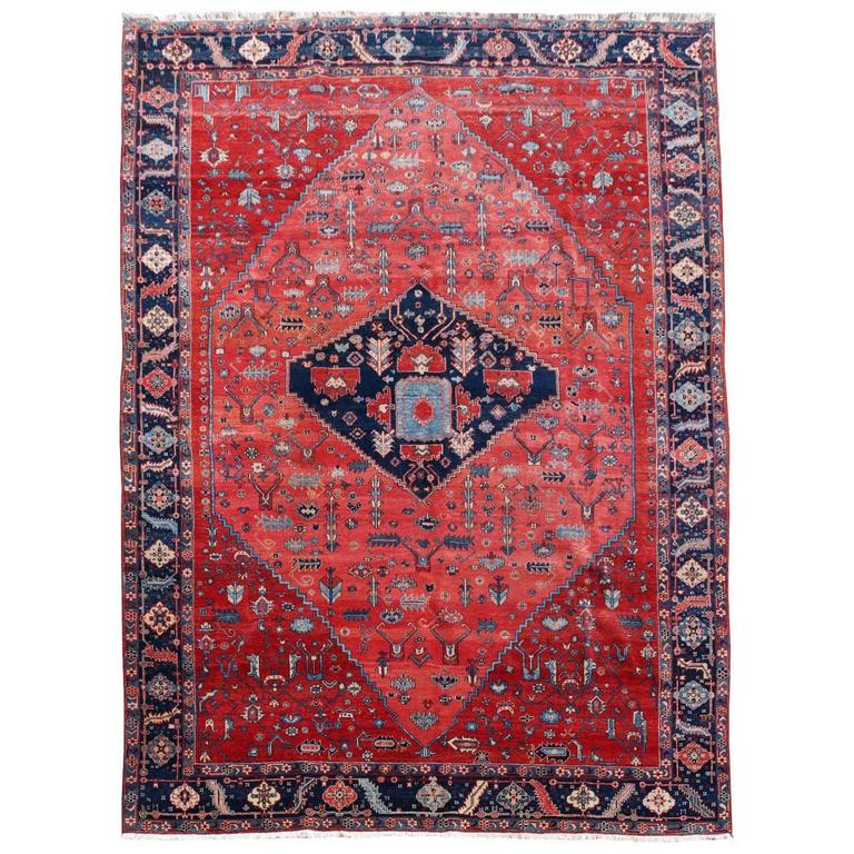 Persian Style Azeri Heriz Rug For Sale