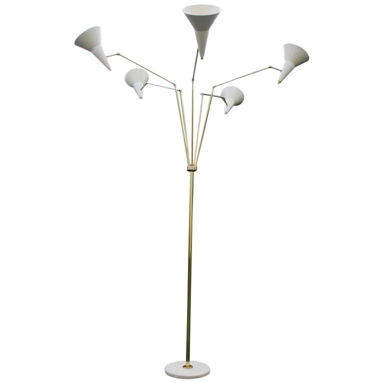 Italian Articulating Floor Lamp