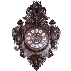 19th Century French Hunt Clock Signed Jean A. Rennes