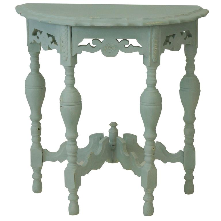 French Provincial Carved Demilune Table For Sale at 1stdibs