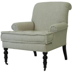 Rollback Office Chair with Tufted Cushion and Casters