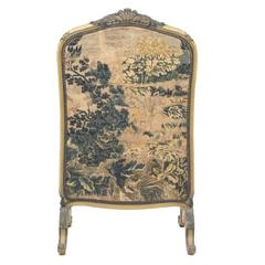 "19th Century Louis XV Style Fire Screen with ""Aubusson"" Tapestry"