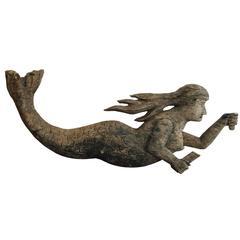 Antique Folk Art Mermaid