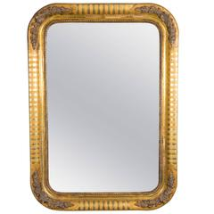 Antique Second Empire Giltwood Frame Mirror, Circa 1860