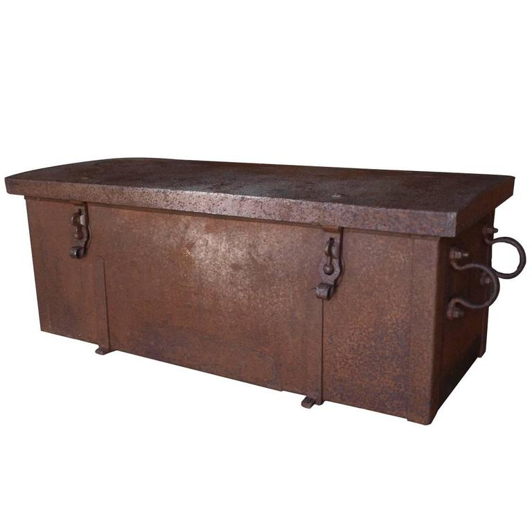 French Trunk Made of Wood and Iron