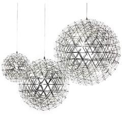 Moooi Raimond Suspension Light Fixture in Stainless Steel and LED Lights