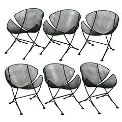 Set of Six Maurizio Tempestini for Salterini Clamshell Chairs