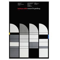 1980s Bauhaus Poster for the Bauhaus Archive Berlin