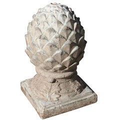 French Terracotta Artichoke Finial, circa 1960s