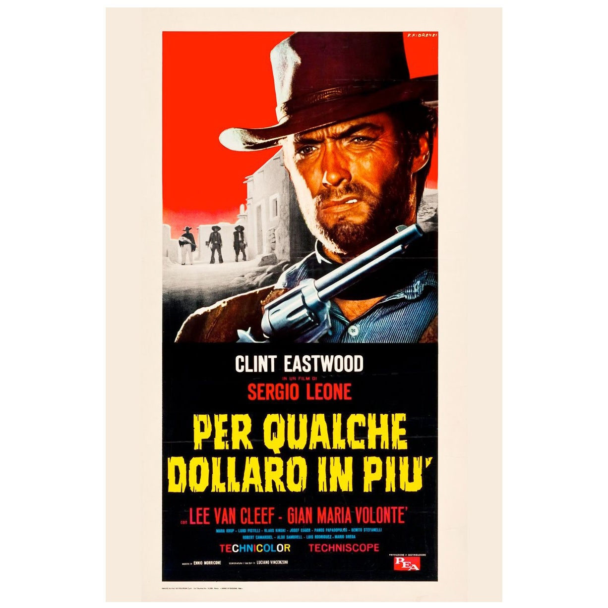 """For A Few Dollars More"" Film Poster, 1966"