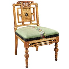 Fine American Giltwood Side Chair, circa 1860