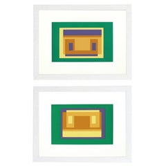 Pair of Lithographs by Josef Albers from Formulation and Articulation